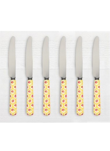 Friends Yellow F. 6'lı Yemek Bıçağı-Pink&More